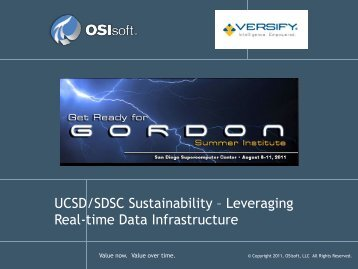 UCSD Sustainability, OSIsoft - Geon