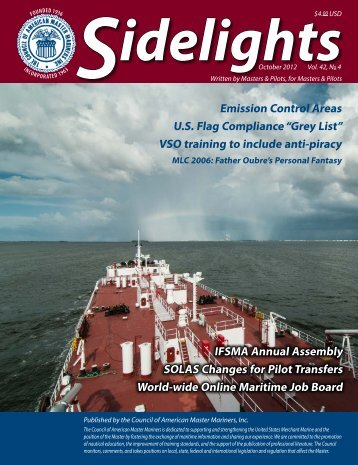 October 2012 Issue - Council of American Master Mariners
