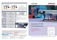 Innovativer UV LED Tintenstrahldrucker
