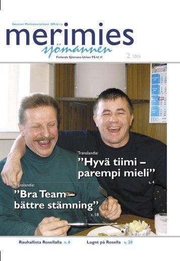 """Hyvä tiimi – parempi mieli"""" - Suomen Merimies-Unioni"""