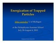 1 Heliophysics Summer School 2010