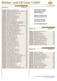 Bücher- und Cd-Liste 1/2007