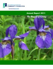 2011 Annual Report - Cattaraugus Region - Community Foundation