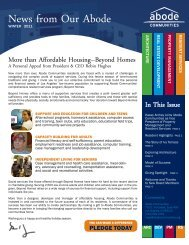 News from Our Abode - Abode Communities