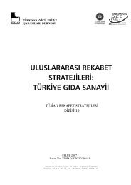uluslararası rekabet stratejileri: türkiye gıda sanayii - REF