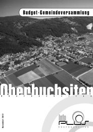 Budget-Gemeindeversammlung - Gemeinde Oberbuchsiten