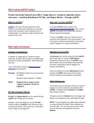 Start using myPUC today! - Purdue University Calumet