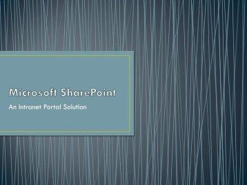 Microsoft SharePoint - SPSU Faculty