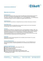 Wichtige Hinweise und Informationen zur richtigen ... - Etiketten