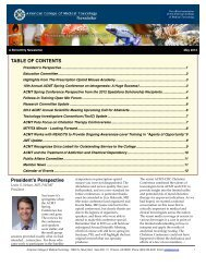 May 2012 Newsletter copy - American College of Medical Toxicology