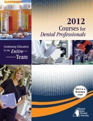 Courses Dental Professionals - Illinois State Dental Society
