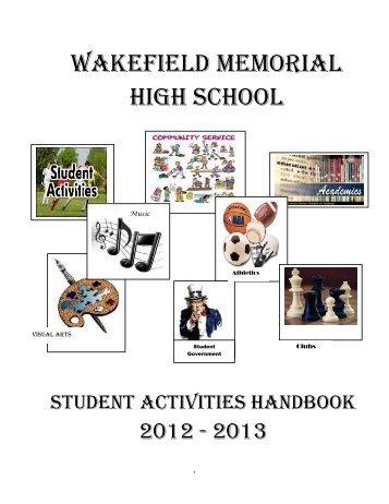 student activities - Wakefield Memorial High School