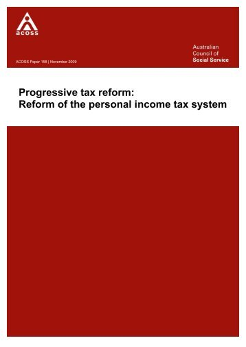Progressive tax reform: Reform of the personal income tax system