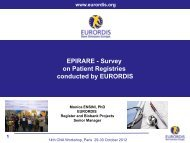 patient registry - Eurordis