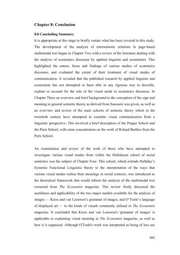 Conclusions - International Systemic-Functional Linguistics ...