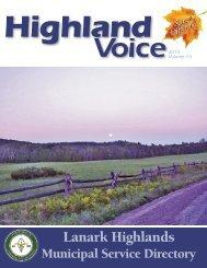 Highland Voice - the Township of Lanark Highlands
