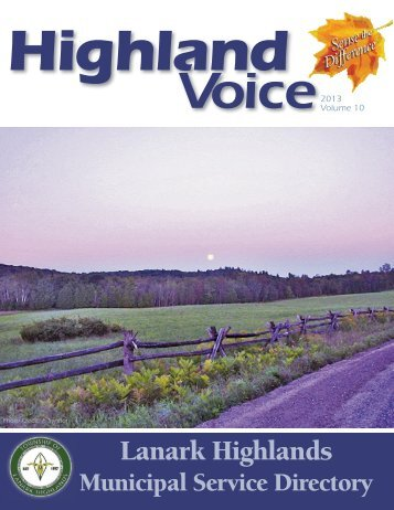 Highland Voice - the Township of Lanark Highlands