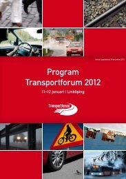 Program Transportforum 2012 - Tyréns