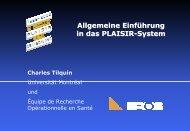 Allgemeine Einführung in das PLAISIR-System - EROS