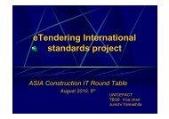 eTendering International standards project