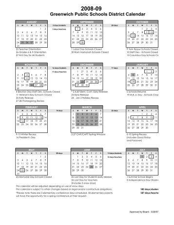 Greenwich Public Schools Calendar.110 Free Magazines From Greenwichschools Org