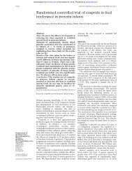 Randomised controlled trial of cisapride in feed intolerance in ...