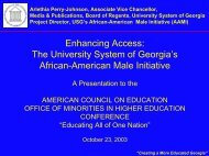 Enhancing Access - University System of Georgia