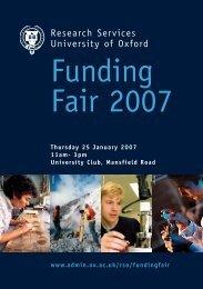 Funding Fair 2007 - Isis Innovation