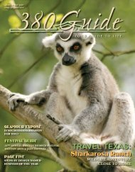 TRAVEL TEXAS: - 380Guide Magazine