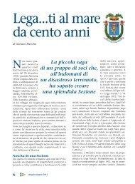 Lega...ti al mare da cento anni - Lega Navale Italiana
