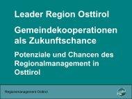 Leader Region Osttirol - GemNova.net
