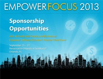 EmpowerFocus 2013 – Sponsorship Packet - Empower Software ...