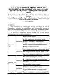 Prácticas de las asignaturas de Electrónica Digital, Estructuras de ...