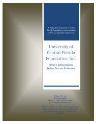 University of Central Florida Foundation, Inc Raiser's Edge ...