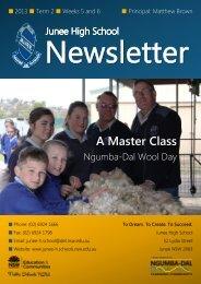 No 8 Newsletter June 2013 - Junee High School