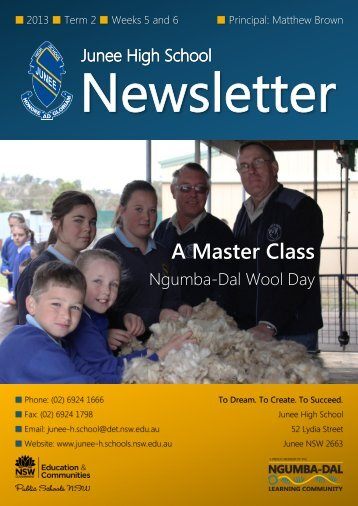 No 8 Newsletter June 2013 - Junee High School