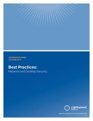 Best Practices: - Lightspeed Systems