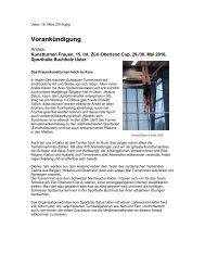Pressevorankündigung ZOC 2010 - Satus Uster