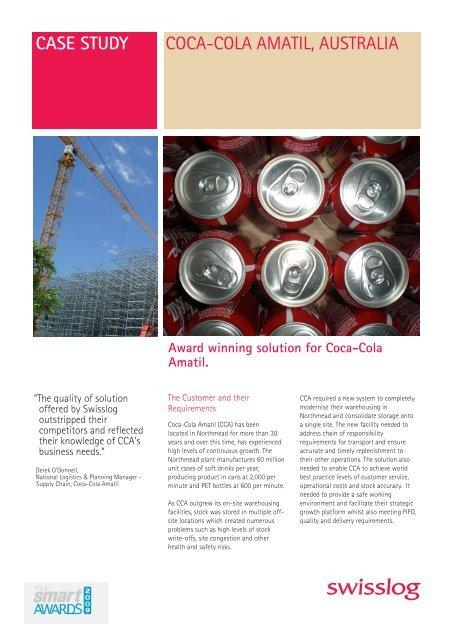 coca cola amatil business case study