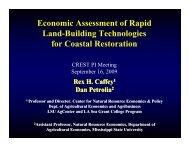 Economic Assessment of Rapid Land-Building Technologies ... - crest