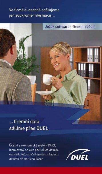 ... firemní data sdílíme přes DUEL - Ježek software