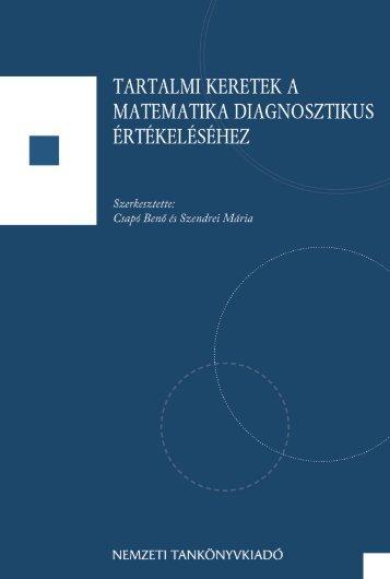 Tartalmi keretek a matematika diagnosztikus értékeléséhez