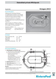 Datenblatt private Whirlpools Octagon 295 K - Partnerline AS