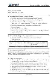 Bezpečnostní list Lanirat Micro - Novum Czech sro