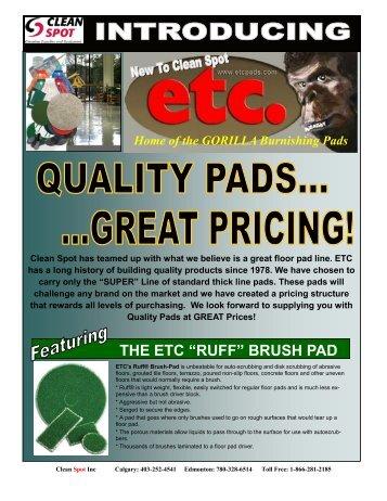 """THE ETC """"RUFF"""" BRUSH PAD - Clean Spot"""