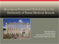 Managing Personnel Reliability at the University of Texas Medical ...