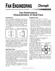 Fan Performance Characteristics of Axial Fans - Clarage