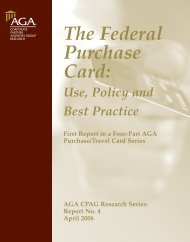 The Federal Purchase Card: Use, Policy & Practice - AGA