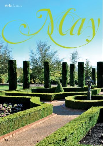 Featured in Style magazine Spring, 2010. - Mayfield Garden