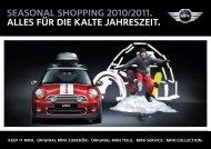 seasonal shopping 2010/2011. alles für die kalte jahreszeit.